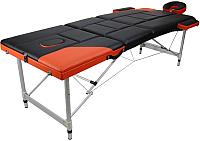 Массажный стол Atlas Sport 2723-3А XXL 2 PVC 9-7 №10-14 (черный/оранжевый) -