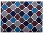 Коврик грязезащитный VORTEX Samba Орнамент 90x120 / 24223 -