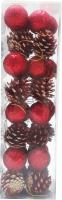 Набор ёлочных игрушек Merry Bear E21-14A3481 (красный/золотистый) -
