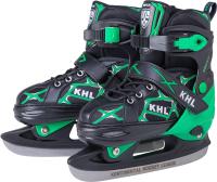 Ролики-коньки KHL Switch S (р-р 31-34, зеленый) -