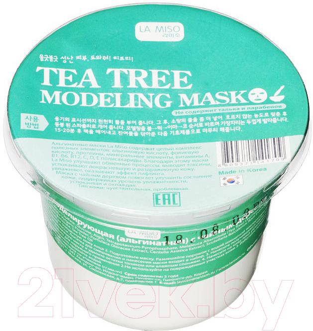 Маска для лица сухая La Miso, Моделирующая альгинатная с чайным деревом (28г), Южная корея  - купить со скидкой