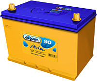 Автомобильный аккумулятор AKOM Asia 6СТ-90VL (90 А/ч) -