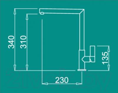 Смеситель Elleci Ares (Aluminium M79)