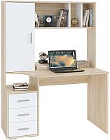 Компьютерный стол Сокол-Мебель КСТ-16 (дуб сонома/белый) -