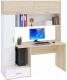 Компьютерный стол Сокол-Мебель КСТ-17 (дуб сонома/белый) -