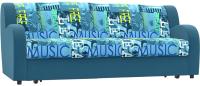 Диван Rivalli Барон Н Next 180 с ящиком с ППУ (Music Azure/Elva Atlantic) -