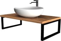 Столешница для ванной 1Марка Grunge Loft 80 / У85830 -