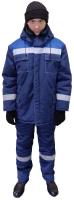 Куртка рабочая Урарту Бригадир утепленная (р-р 48-50/170-176, темно-синий/василек) -