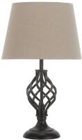 Прикроватная лампа Лючия Ковка 432 (черный) -