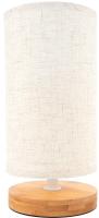 Прикроватная лампа Лючия Онтарио 453 (дерево/рогожка) -