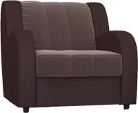 Кресло-кровать Rivalli Барон Н Next 70 с ППУ без подушек (Lounge 12/Bahama grey) -