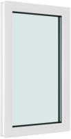 Окно ПВХ Brusbox Глухое 3 стекла (1100x800x70) -
