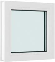 Окно ПВХ Brusbox Глухое 2 стекла (450x550x60) -