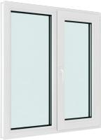 Окно ПВХ Brusbox Elementis Kale Поворотно-откидное с импостом правое 2 стекла (1400x1000x60) -