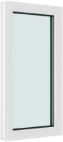Окно ПВХ Brusbox Глухое 2 стекла (1200x600x60) -