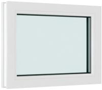 Окно ПВХ Brusbox Глухое 2 стекла (800x600x60) -