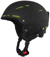 Шлем горнолыжный Alpina Sports Biom C / A9059-39 (р-р 58-62, черный матовый/зеленый) -