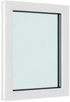 Окно ПВХ Brusbox Глухое 2 стекла (900x700x60) -