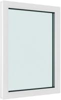 Окно ПВХ Brusbox Глухое 2 стекла (1300x900x60) -