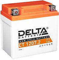 Мотоаккумулятор DELTA AGM СТ 1207.2 / YTZ7S (7 А/ч) -