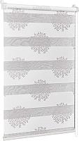 Рулонная штора Delfa Сантайм День-Ночь Декор МКД DN-44802 (73x160, крем/серебристый) -