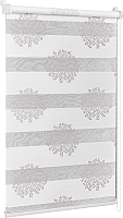 Рулонная штора Delfa Сантайм День-Ночь Декор МКД DN-44802 (57x160, крем/серебристый) -