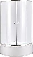 Душевой уголок Niagara NG-108012-14 80x195 (прозрачное стекло/хром) -