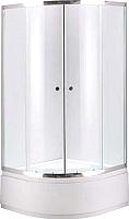 Душевой уголок Niagara NG-110012-14 100x195 (прозрачное стекло/хром) -