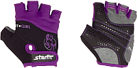 Перчатки для фитнеса Starfit SU-113 (S, черный/фиолетовый/серый) -