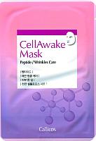 Маска для лица тканевая Callicos CellAwake с пептидами против морщин -
