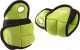 Комплект утяжелителей Starfit Эргономичные WT-201 (1кг, зеленый/черный) -