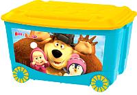 Ящик для хранения Бытпласт Маша и медведь 4313794 (голубой) -