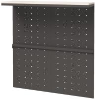Стенка-органайзер Millwood Neo Loft ML-4 Ш 121x40x136 (дуб белый Craft/металл черный) -