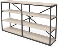 Стеллаж Millwood Neo Loft OR-1 Ш (дуб беленный Craft/металл черный) -