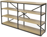 Стеллаж Millwood Neo Loft OR-1 Ш (дуб натуральный Craft/металл черный) -