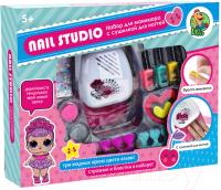 Набор детской декоративной косметики Sea & Sun Nail Art Pens SS1072559 / MBK-326 (с лампой для ногтей) -