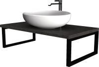 Столешница для ванной 1Марка Grunge Loft 90 / У85837 -