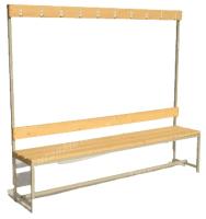 Скамейка для раздевалки ТитанМетаБел Р4 (1м) -