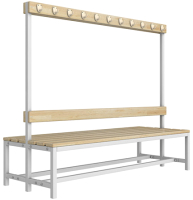 Скамейка для раздевалки ТитанМетаБел Р5 (1.5м) -