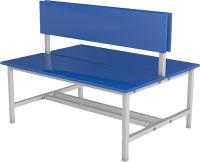 Скамейка для раздевалки ТитанМетаБел Р3 ЛДСП (1м) -