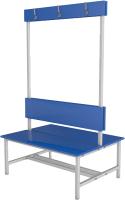 Скамейка для раздевалки ТитанМетаБел Р5 ЛДСП (1.5м) -