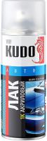 Лак автомобильный Kudo Акриловый 1К / KU9010 (520мл) -