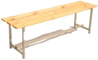 Скамейка для раздевалки ТитанМетаБел Р1 (2м) -