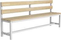 Скамейка для раздевалки ТитанМетаБел Р2 (2м) -