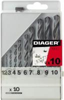 Набор сверл Diager HSS Standard 752С (10 предметов) -