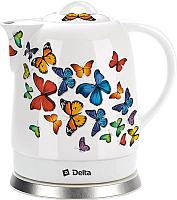 Электрочайник Delta DL-1233A (бабочки) -