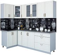 Готовая кухня Интерлиния Мила Крафт 1.2x2.5 (дуб полярный) -
