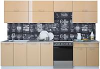 Готовая кухня Интерлиния Мила Gloss 60-30 (капучино) -