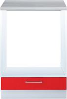 Шкаф под духовку Интерлиния Мила Gloss НШ60д (красный) -