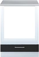 Шкаф под духовку Интерлиния Мила Gloss НШ60д (черный) -